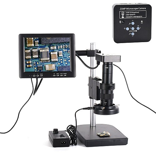 Full HD HDMI USB C-Mount  Microscope for PCB